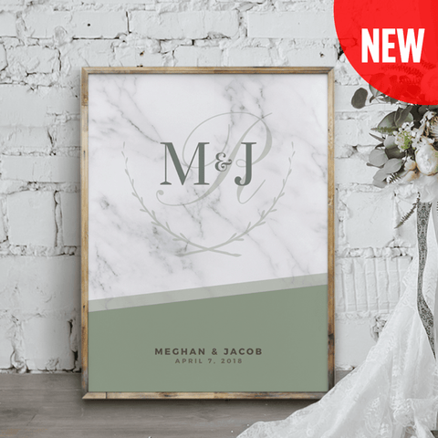 MK Olive Wedding Personalized Print
