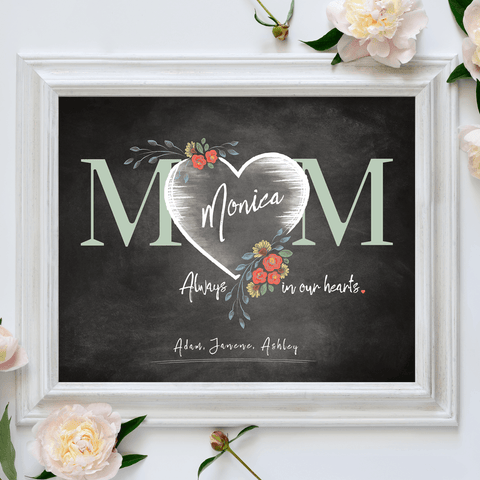 Mom Heart Personalized Print