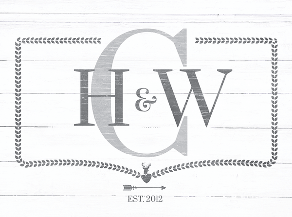 preview of the Monogram personalized print
