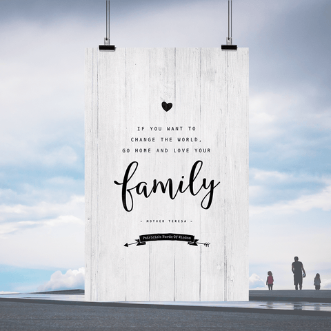 Love Your Family Personalized Print