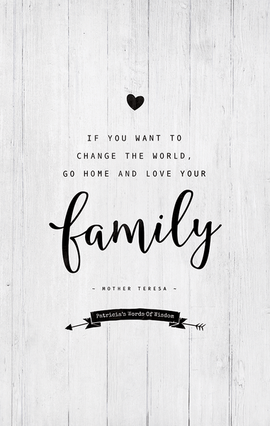 close up of the Love Your Family personalized print