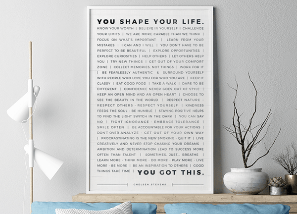 Manifesto Personal Print in a modern farmhouse home