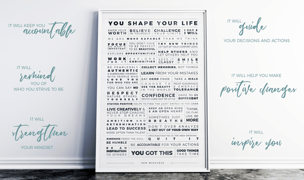 Manifesto Grid Personalized Print and benefits of daily inspiration
