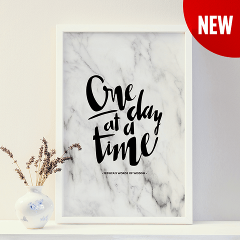 One Day At A Time Personalized Print