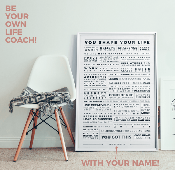 Manifesto Grid Personalized Print in a modern room