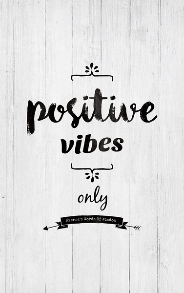 close up view of the Positive Vibes Only personalized print