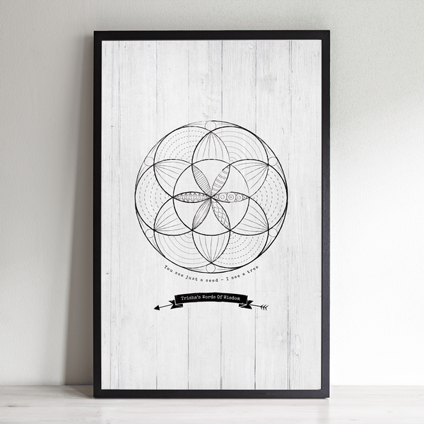 Seed Of Life personalized print