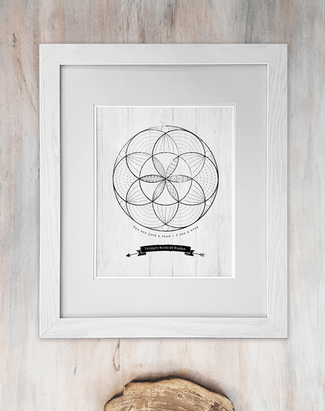 framed Seed Of Life personalized print