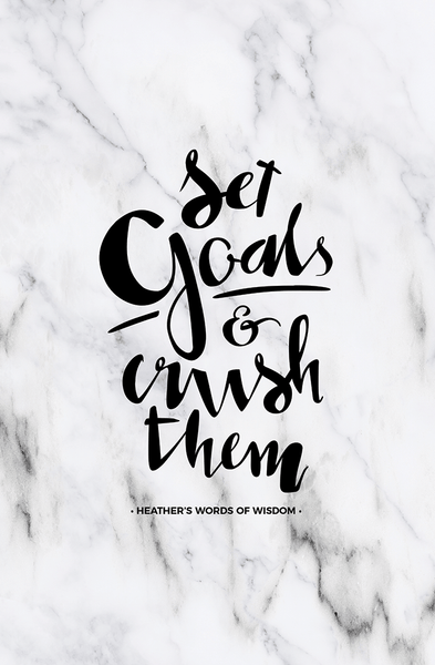 Set Goals & Crush Them Personalized Print