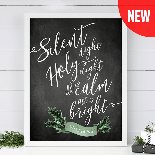 Silent Night Personalized print