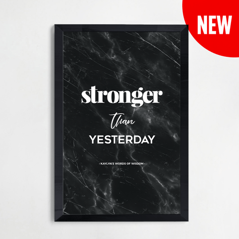Stronger Than Yesterday Personalized Print