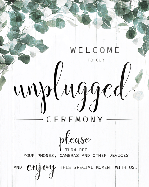 preview of the Unplugged Ceremony Foliage print