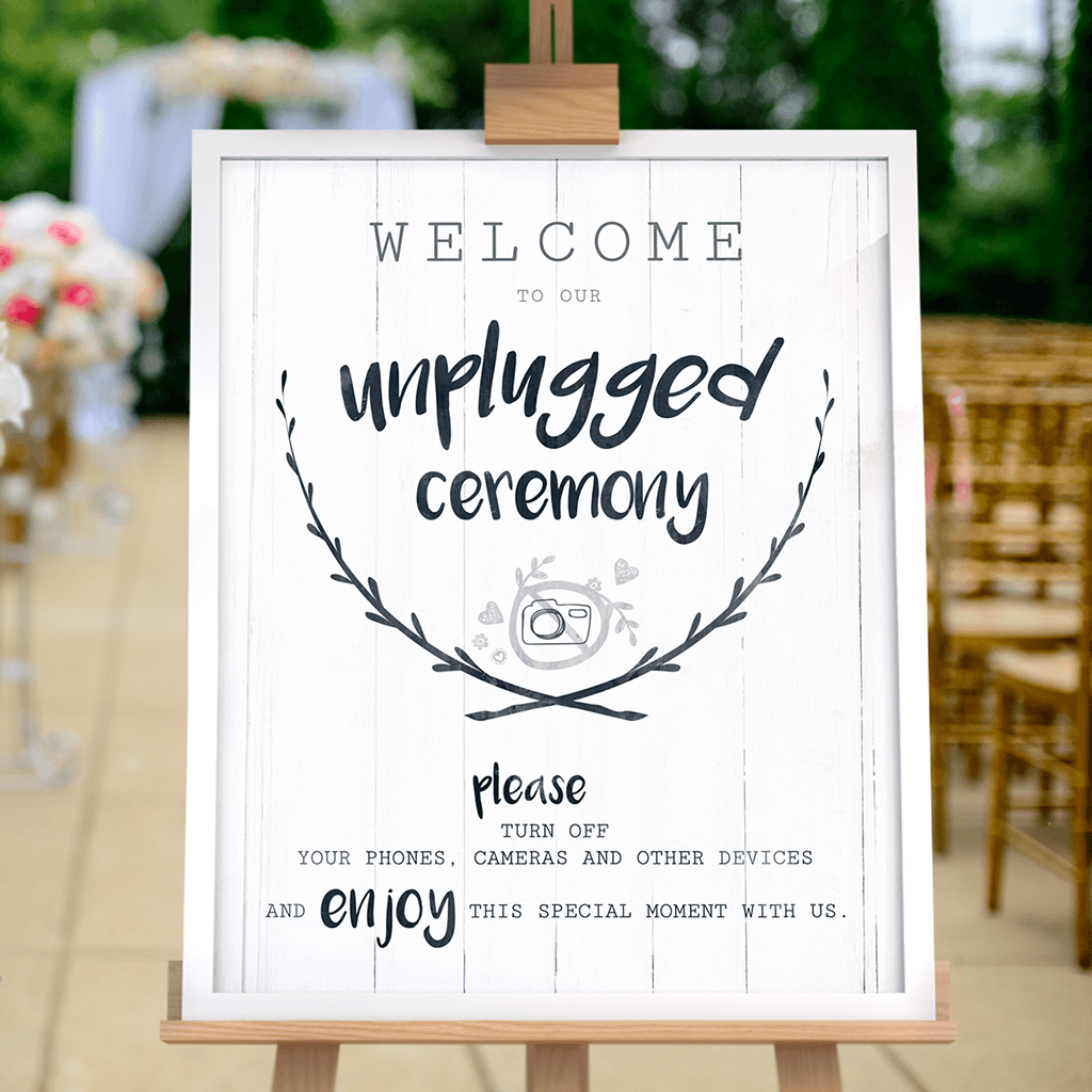 Unplugged Ceremony print