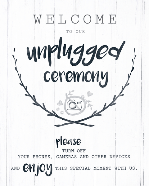 Close up of the Unplugged Ceremony print
