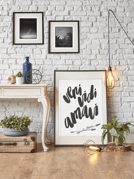 Veni Vidi Amavi Arrows Personalized Print