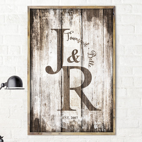 Framed Vintage Family personalized print