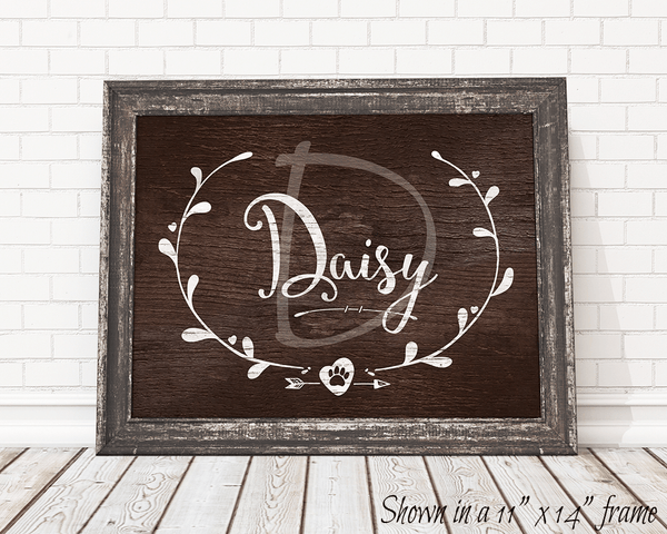Framed Vintage Doggy personalized print