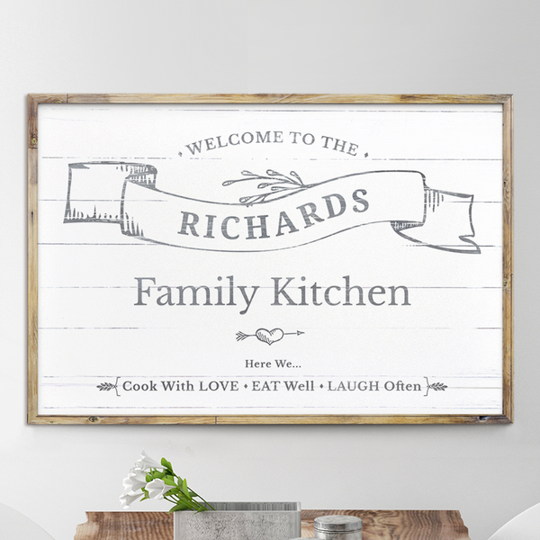 Welcome To Our Kitchen personalized print