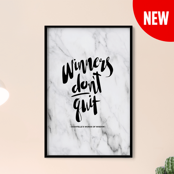 Winners Don't Quit Personalized Print