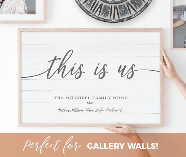 This Is Us personalized print makes a perfect addition to your gallery wall!