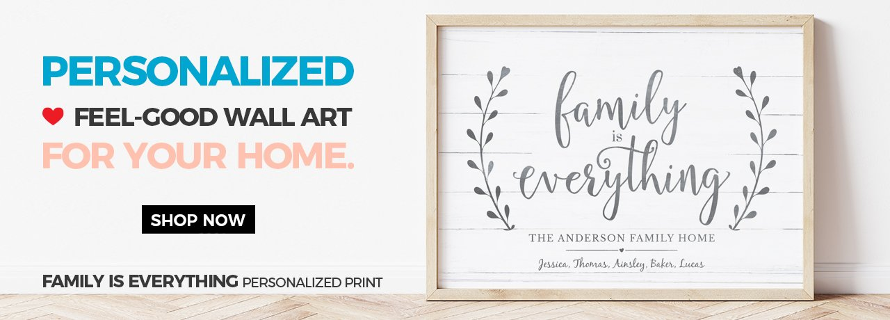 Shop all our collections of rustic, farmhouse personalized prints