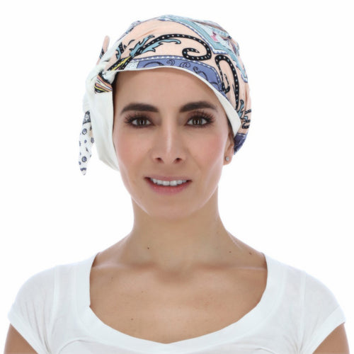 Mantra, turbante largo con diseño estampado