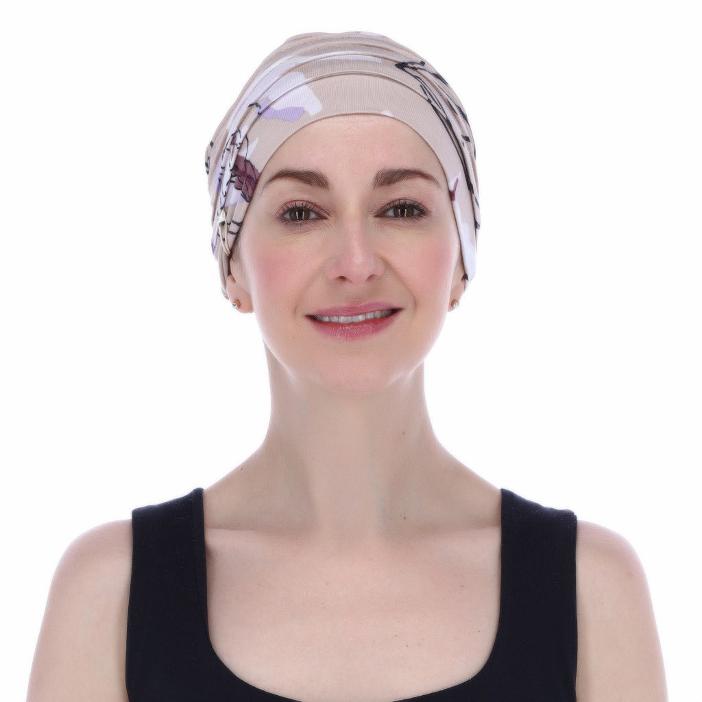 Yoga, turbante con diseño estampado.