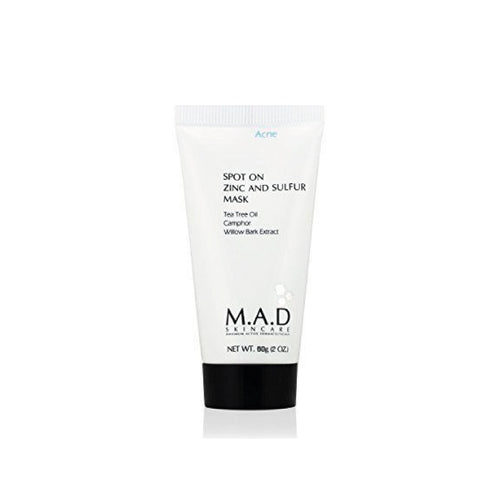 Spot On Zinc and Sulfur Mask, mascarilla para remover el exceso de grasa.