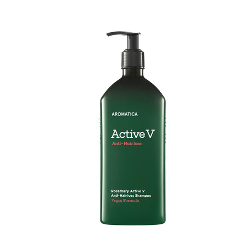 Rosemary Active V Anti-Hair Loss, shampoo con Activo V para caída de cabello