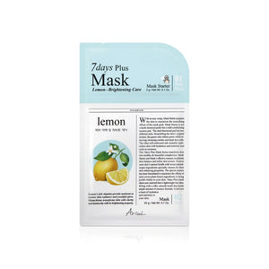 7Days PLUS Mask lemon, mascarilla plus de limón