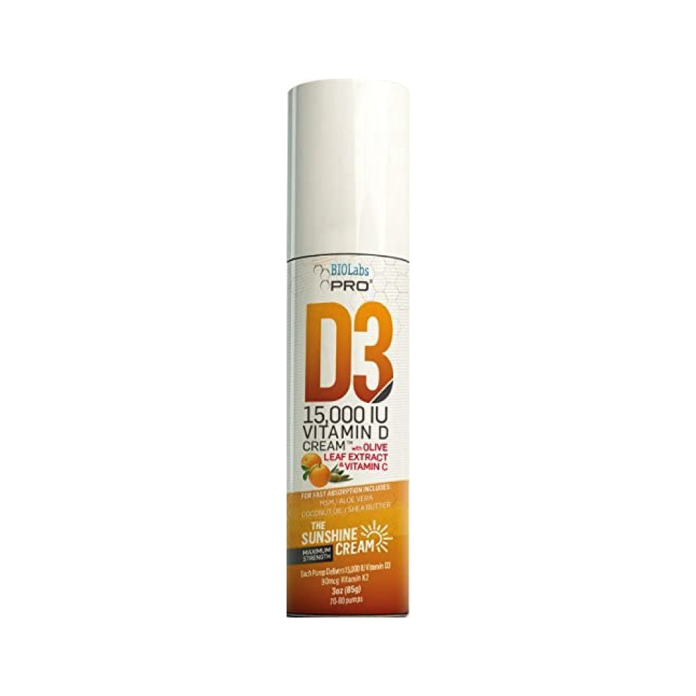All Natural 15000 IU Vitamin D Cream, Vitamina D y K2 en crema