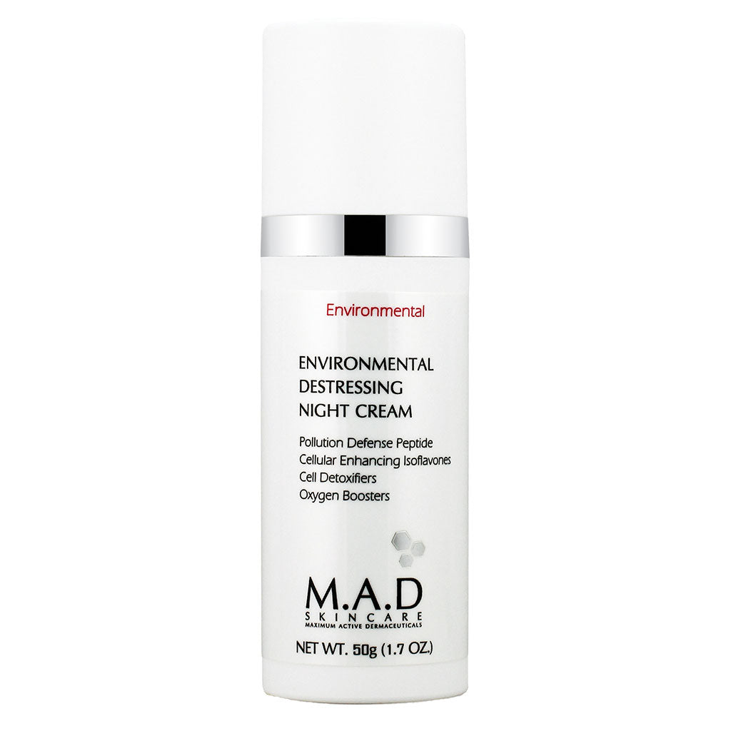 M.A.D. SkinCare. Environmental Destressing Night Cream, crema nocturna humectante. 50 ml