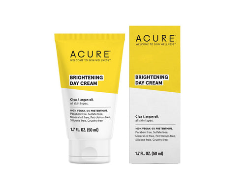 Acure. Brightening Day Cream, crema de día hidratante que da tono uniforme. 50 ml