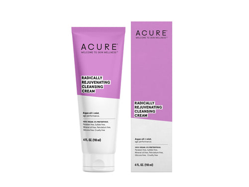 Acure. Radically Rejuvenating Cleansing Cream, crema para una limpieza profunda. 118 ml