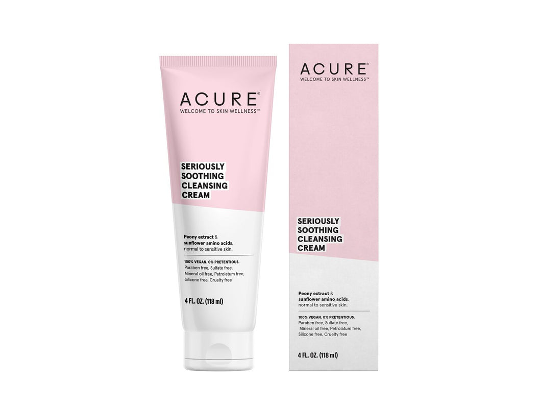 Acure. Seriously Soothing Cleansing Cream, limpiador para piel normal a sensible. 118 ml
