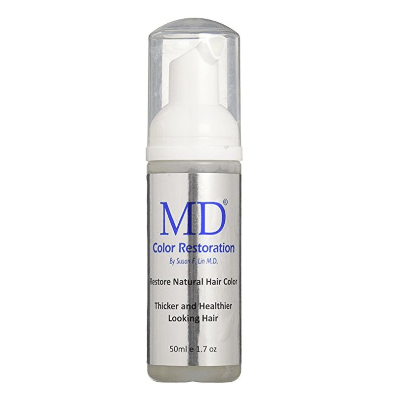 MD, Color Restoration. Mousse para restaurar el color natural del cabello canoso dejándolo más fuerte, brillante y saludable,  50 ml