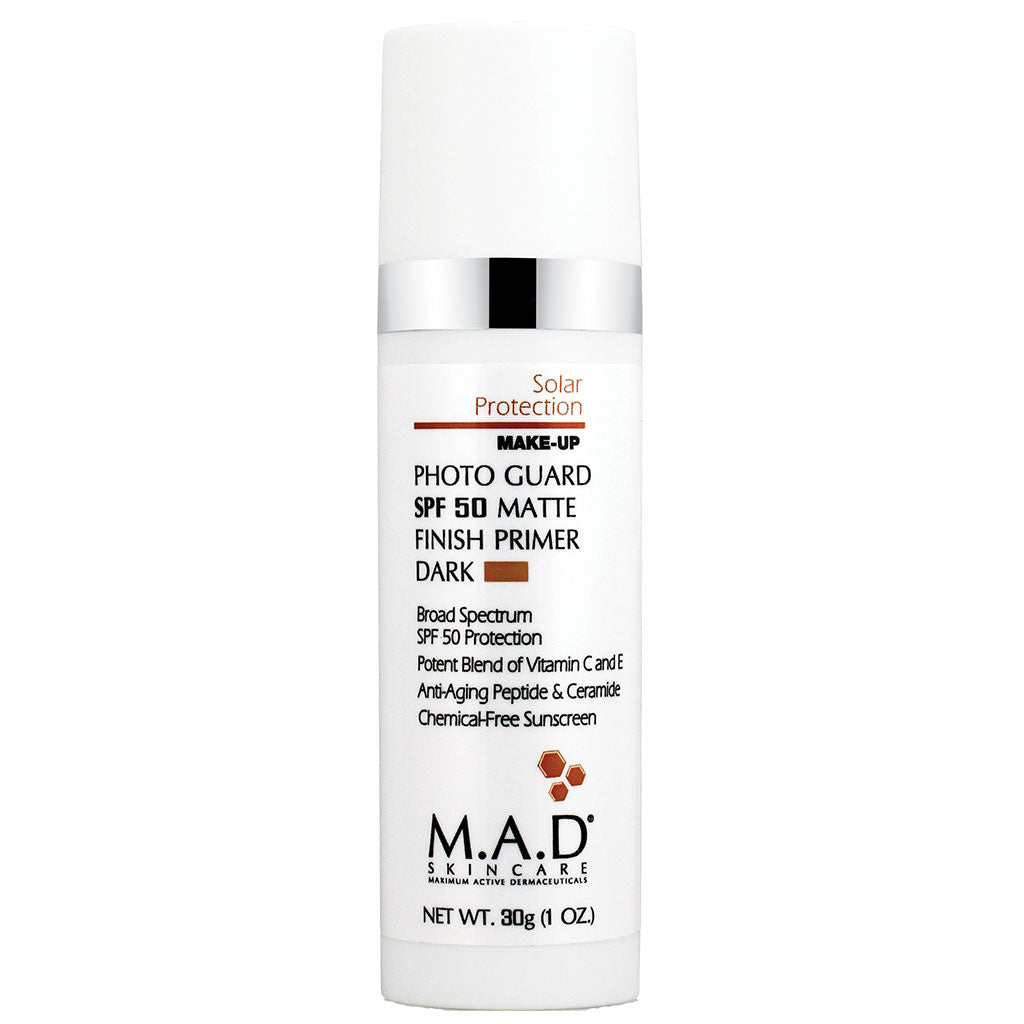 M.A.D. SkinCare. Photo Guard SPF 50 Matte Finish Primer, base de maquillaje matte protectora. 30 gr