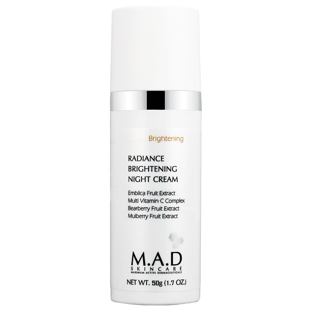 M.A.D. SkinCare. Radiance Brightening Night Cream, tratamiento  antiarrugas y despigmentante. 50 ml