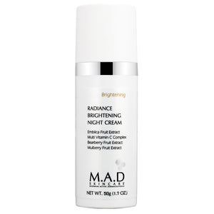 Radiance Brightening Night Cream, tratamiento  antiarrugas y despigmentante.