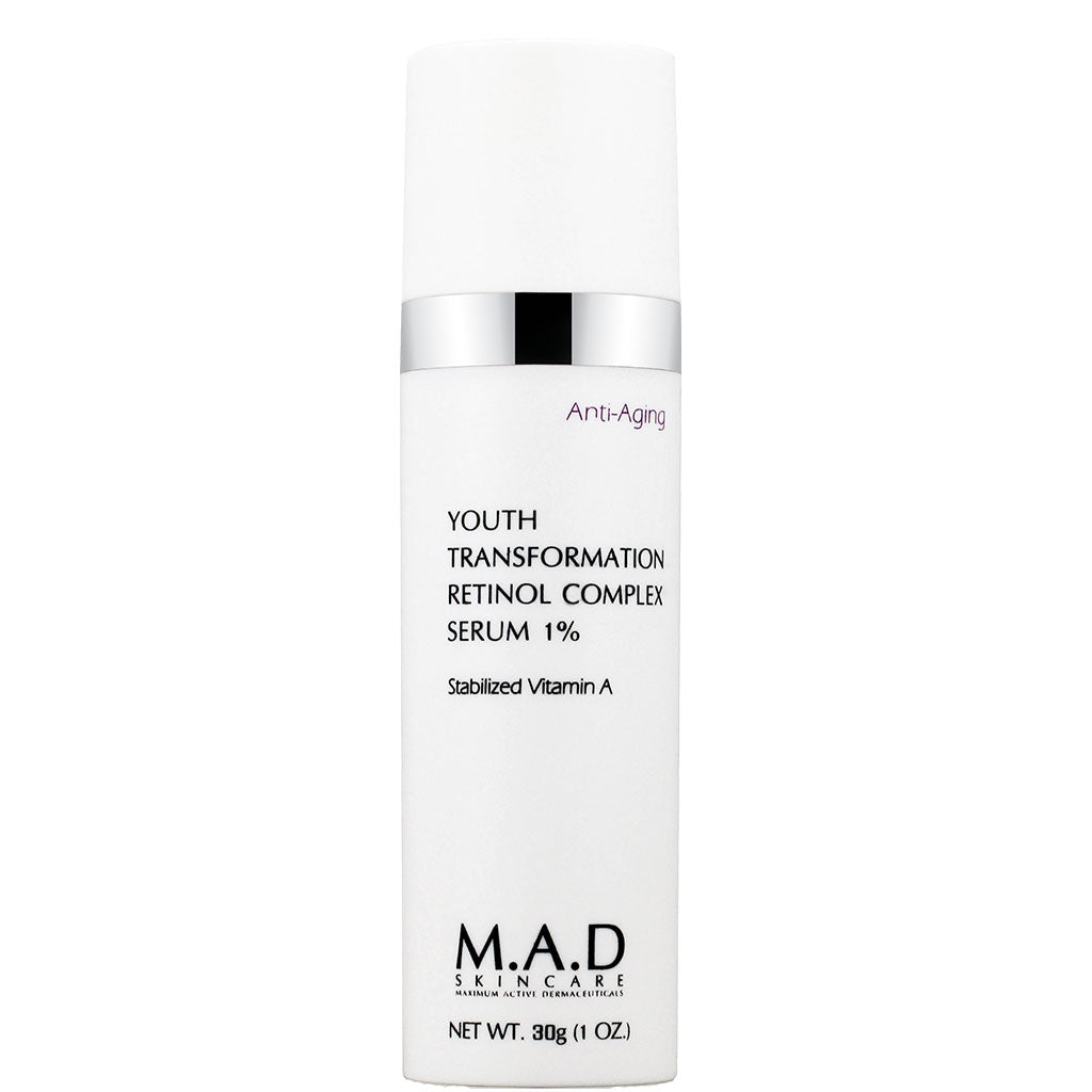 M.A.D. SkinCare. Youth Transform Retinol Complex Serum 1%, tratamiento antiarrugas retinol 1%. 30 gr