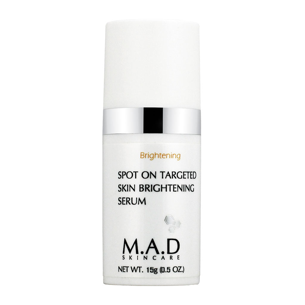 M.A.D. SkinCare. Spot On Targeted Skin Brightening Serum, tratamiento antimanchas unificador, 15 gr.