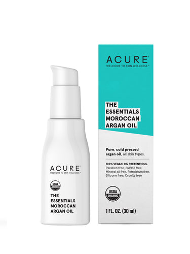 Acure. The Essentials Argan Oil, para cabello, rostro y cuerpo ultra hidratante y reparador. 30 ml