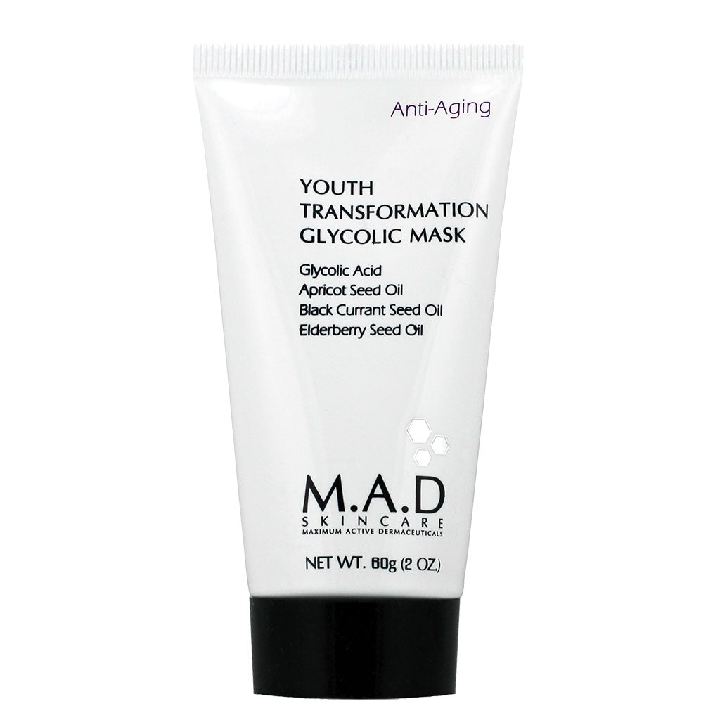 M.A.D. SkinCare.Youth Transformation Glycolic Mask, mascarilla reductora de arrugas. 60 gr