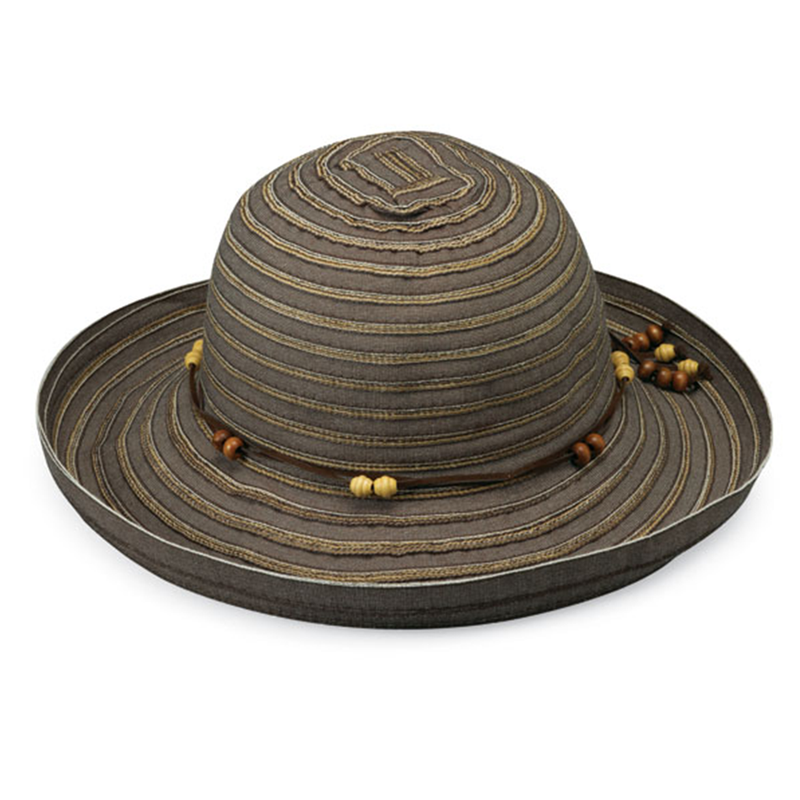 Sol Protector. Sombrero Breton, color chocolate