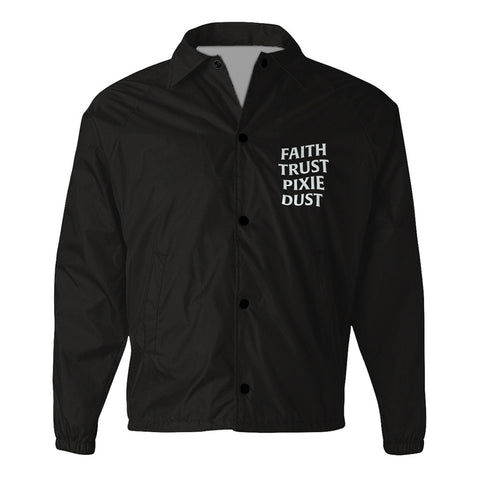Faith Trust Pixie Dust Coach Jacket - Black