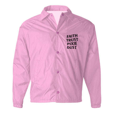 Faith Trust Pixie Dust Coach Jacket - Pink