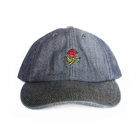 Glass Rose Hat - Dark Denim
