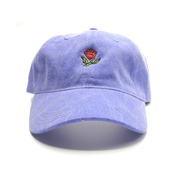 Glass Rose Hat - Periwinkle
