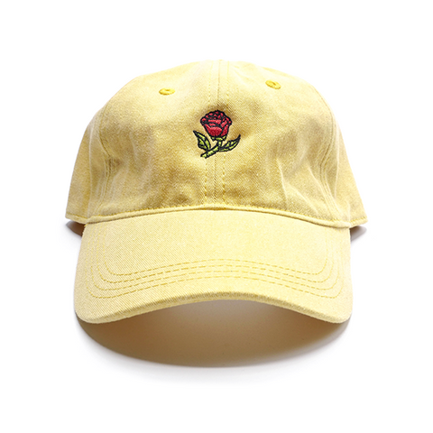 Glass Rose Hat - Beauty Yellow