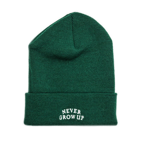 Never Grow Up Beanie - Peter Pan Green